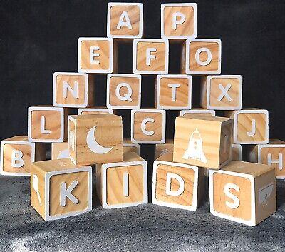 "HallmarkClassic ABC Building Wood Blocks (ABCs, Words, Pics) 1.75"" in Bag"