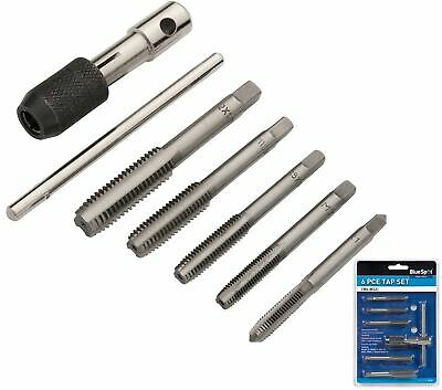 Bluespot 6pc Tap Set Chuck Set Metric  M6 M7 M8 M10 & M12 Steel Thread Cutter