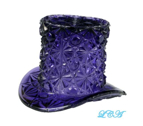 Rare PURPLE AMETHYST antique EAPG Victorian TOP HAT beautiful PATTERN