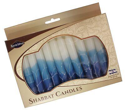 Majestic Giftware SC-SHWT-T Safed Shabbat Candle, 5-Inch, White Turquoise, 12... 12 Safed Shabbat Candles