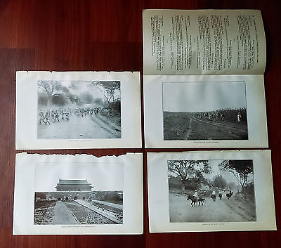 4 1900 US China Relief Expedition Photos Japanese Russian Troops Forbidden City
