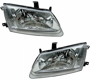 Pair of Headlights for Nissan Pulsar 07/00-06/03 New Front lamps N16 00 01 02 03