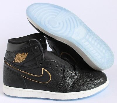 "NIKE AIR JORDAN 1 RETRO HIGH OG LA ALL STAR"" BLACK-MET GOLD SZ 10.5 [555088-031]"