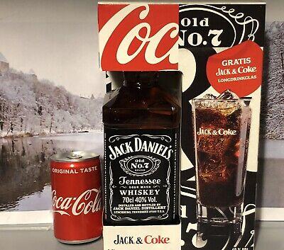 Jack Daniels & Coke Box+Glas +Cola 700ml 70cl 0,7L Sammeln NoGreenFireHoneyApple