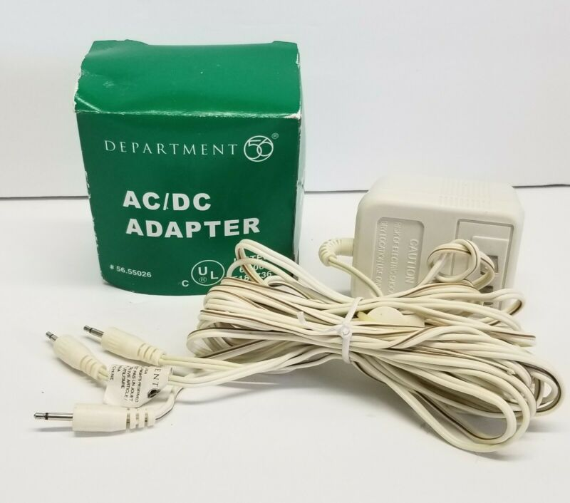 Dept 56  AC/DC ADAPTER 3 Prong Village Accessories  #55026 w/ Box TESTED