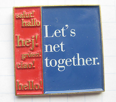 IBM / LET`S NET TOGETHER. .....................Computer Pin (131k)