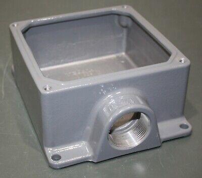 Hubbell Electrical Box D-55062 6-34 X 6-34 X 3-14 100 Cu. In 1-12 Hub