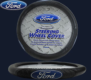 Ford Diamond Grip Steering Wheel Cover Syn. Leather Fits Super Duty F250 F350