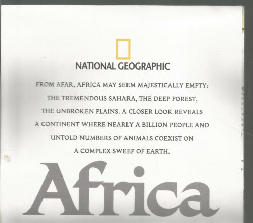 Africa A Storied Land The Human Footprint September 2005 National Geographic Map