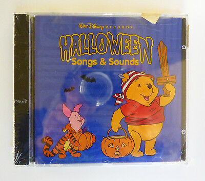 Disney Halloween Songs and Sounds (CD, 1997) New Sealed Pooh Mickey Goofy Tigger