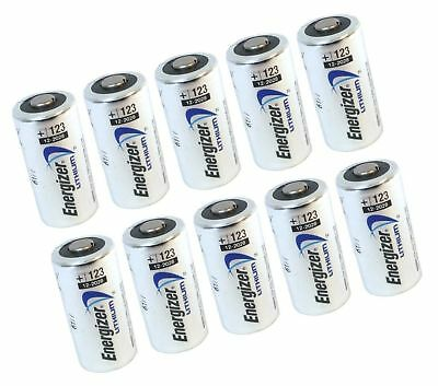 10 pcs Energizer Lithium CR123A 3V Photo Lithium Batteries