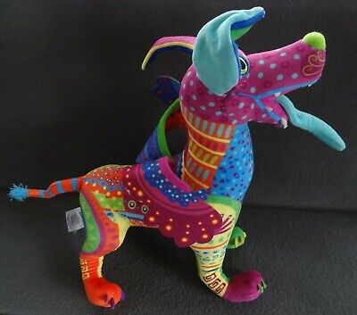 Disney Dante Plush Pixar Coco Rainbow Spirit Dog Alebrije Colorful Stuffed Wings