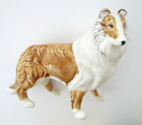 Collie Sheltie Glass Figurine