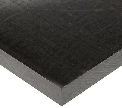 2 Black Delrin Block Acetal Sheet 4.25x14.5 Cnc Millstock Plastic B2024
