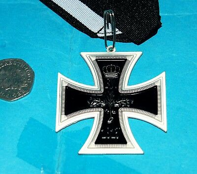 GERMAN LARGE IRON EMBOSSED CROSS WITH RIBBON (LR1)