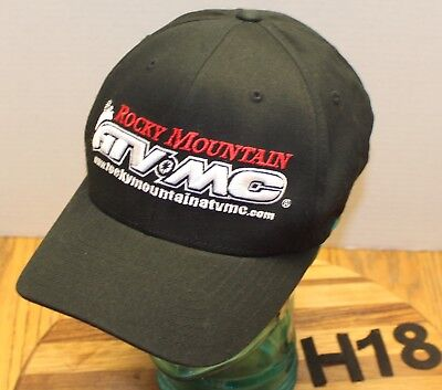 Rocky Mountain Atv Mc Hat Black Embroidered Size L Xl Very Good Condition H18