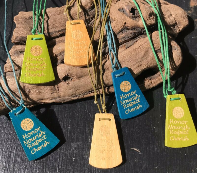 6pc Wholesale Carver Bamboo Necklace Lot Jewelry