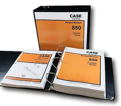 Case 850 Crawler Dozer Loader Service Manual Set Parts Catalog Repair Shop