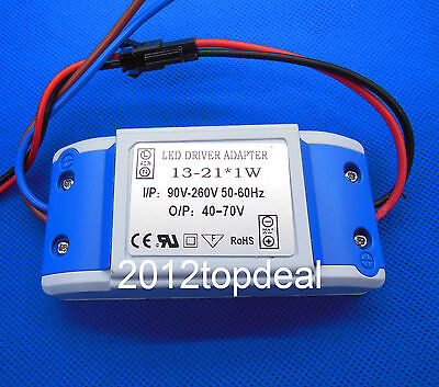 13-21x1w Led Driver Power Supply 300ma Dc40-70v For 21pcs 1w High Power Led