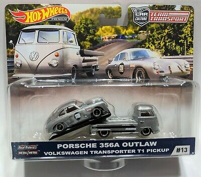 Hot Wheels Team Transport #13 VW Volkswagen T1 Pickup Porsche 356 Speedster 2019