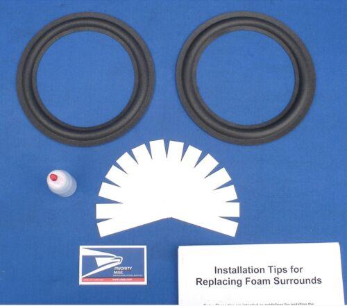 Large Advent Speaker Foam Surround Repair Kit / All Metal Basket / Woofer Refoam