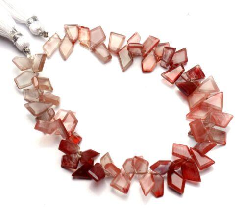 """Natural Gem Andesine Labradorite Faceted Slice Shape Beads 8"""" Strand 77Cts."""