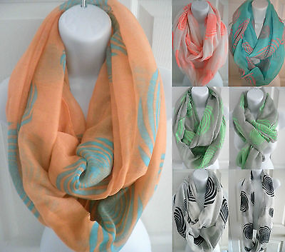 NEW womens soft infinity scarf double circle cowl eternity long scarf Wrap loop