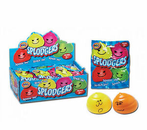 Splodgers Water Filled Squeeze Squish Sticky Stress Splat Ball Party Bag Fun Toy