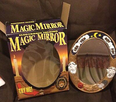 Halloween Mirror Prop (EUC 2001 Electronic Talking Magic Mirror Halloween Animated Witch)