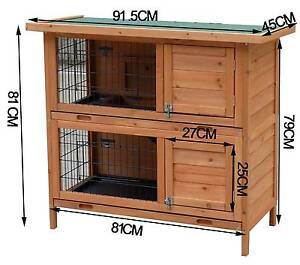 New Large Rabbit Hutch with BASE Chicken Coop Guinea Pig Cage Auburn Auburn Area Preview