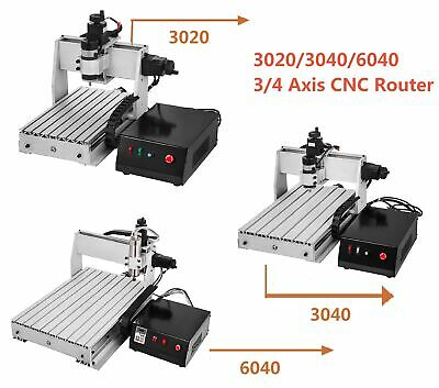 34 Axis 302030406040 Cnc Router Milling Engraving Machine Engraver Usb Port