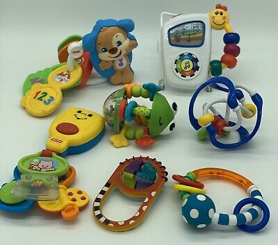 Mixed Lot Of Fisher Price Sassy Baby Einstein Baby Toys