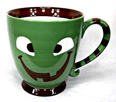 NEW 2007 Starbucks Halloween Jack-O-Lantern Green Monster Pedestal Mug 18 - Starbucks Halloween Mugs