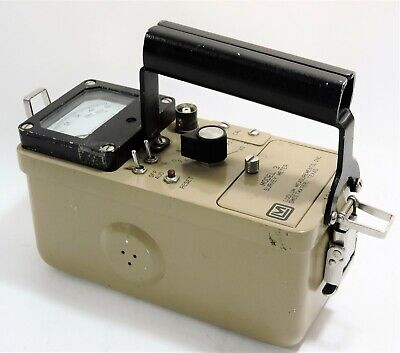 Ludlum Survey Meter Model 3 Geiger Counter Serial 104485