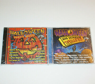 Halloween Party Music Thriller (Halloween Party Music and Big Screen Thrillers Movies CD Set of 2 New)