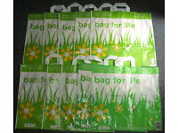 Asda bag For Life Plastic Carrier Bag X10 Brand New Fast Delivery Shopping Bags