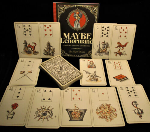 SEALED NEW! MAYBE LENORMAND FORTUNETELLING DECK & BOOK SET VERY NICE SET
