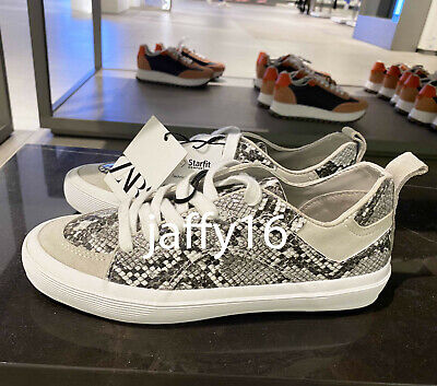 ZARA NEW WOMAN SNAKE ANIMAL PRINT SNEAKERS WITH VULCANISED SOLE 35-42 1401/510