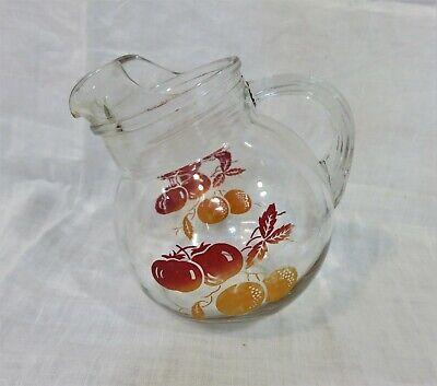 VINTAGE ANCHOR HOCKING GLASS TILT BALL JUICE PITCHER