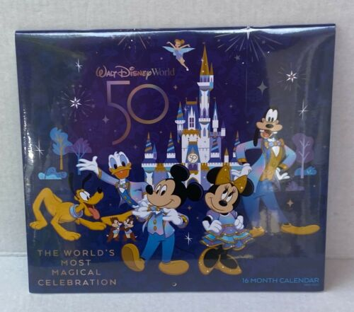 Walt Disney World 50th Anniversary Celebration 2021-2022 16 Month Calendar NEW