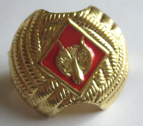 Boy Scout CUB SCOUT NECKERCHIEF SLIDE Tie Gold RED WOLF Enamel Woggle NEW w/TAG