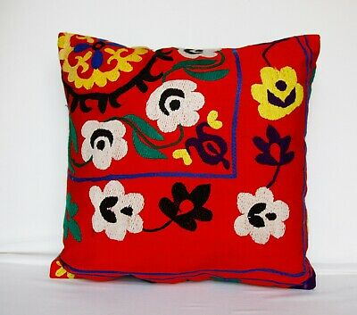 Handmade embroidered textile from Bukhara pillowcase pillow covers Uzbek hand embroidery Suzani pillow cover pillowcases Uzbekistan.