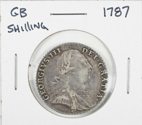 1787 Great Britain UK Silver Shilling George III
