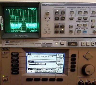 Hp 8566b W Cables - 100hz-22ghz Spectrum Analyzer - Clean - Tested - Agilent