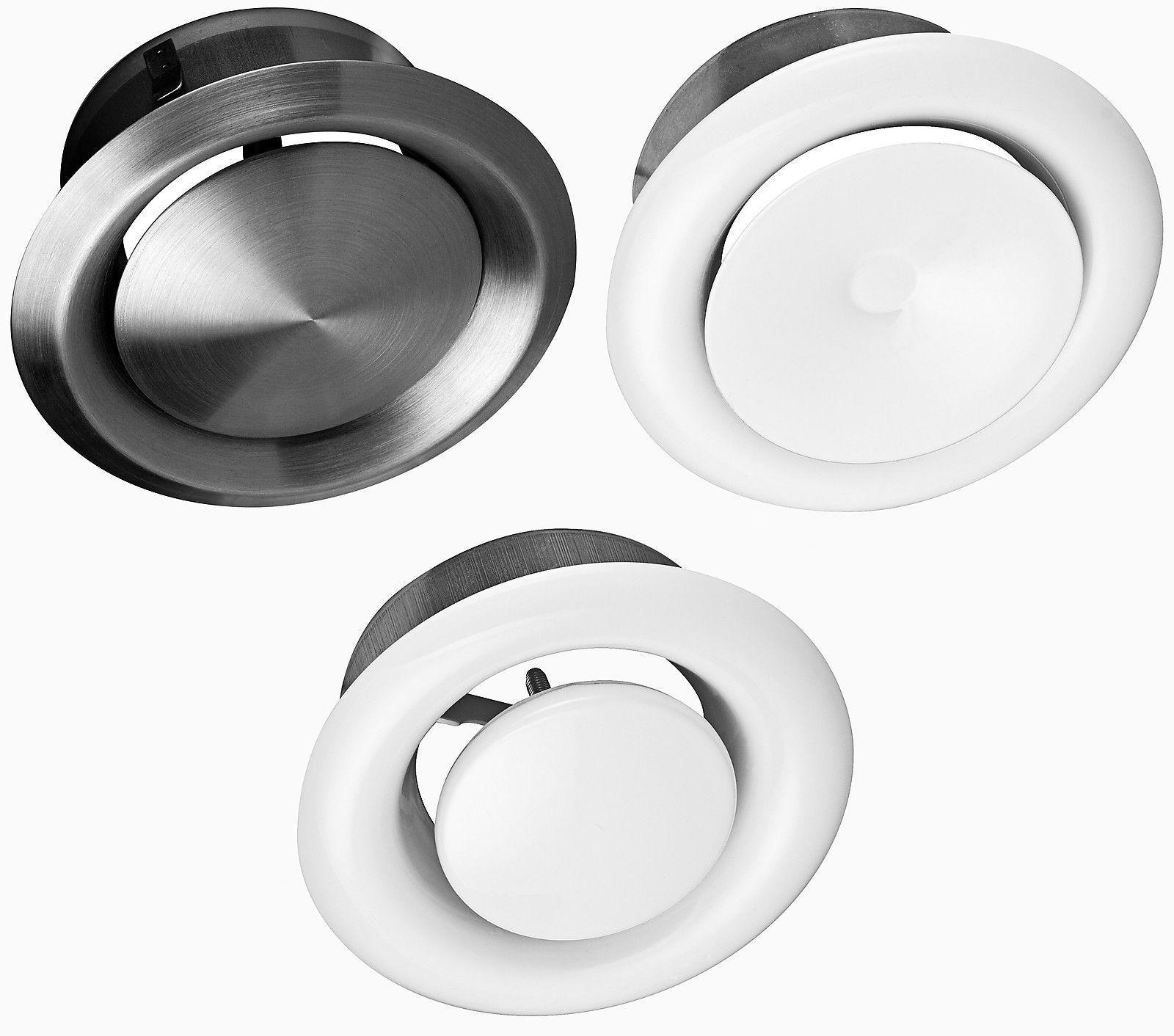 ZULUFT ABLUFT Tellerventil Ø 80 100 125 150 200 mm Anemostat Deckenventil Metall