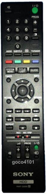 RMT-D259 RMTD259 Original Genuine SONY HDD Remote Control SVR-HDT500 SVR-HDT1000