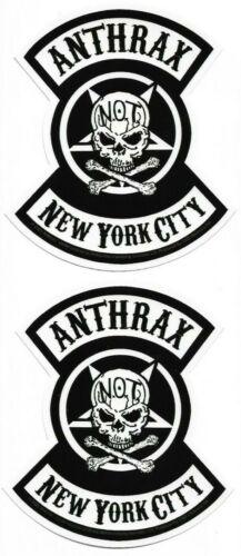 Anthrax - New York City NYC - Sticker [Lot of 2] Heavy Metal Symbol Logo Emblem