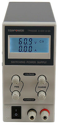 Used Tekpower Tp6005e Dc Adjustable Switching Power Supply 60v 5a