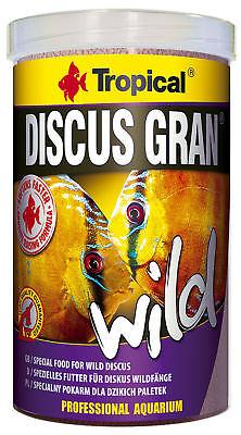 Natürliche Granulat (1000 ml Tropical Wild Discus Gran / Diskusgranulat NEU Natürliches Premiumfutter)
