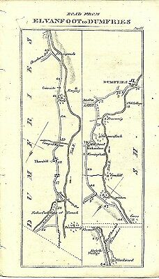 Antique map, Elvanfoot to Dumfries (2)